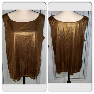 Nygard Collection 1X gold Tank Top